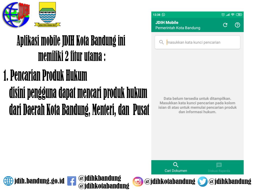 Preview JDIH Versi Mobile (Android)